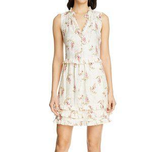 Rebecca Taylor Cream Ivie Floral Midi Dress 6